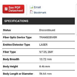 Finisar SFP SM 1310nm