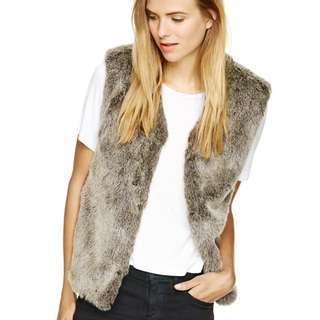 Aritzia faux fur vest