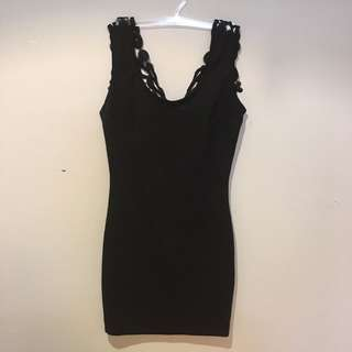 Tank top with lace back - size S