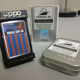 Authentic France World Cup 98 Limited Edition Zippo Lighter