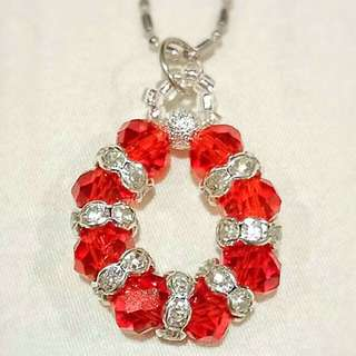 HANDMADE Special Elegant DIY Hand-Crafted Multiple Colour Crystal Necklaces/ Pendants•Ideals for Xmas/ Birthday Gift/ Casual