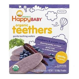 Happy Baby Happy Gentle Teethers (Blueberry & Purple Carrot)