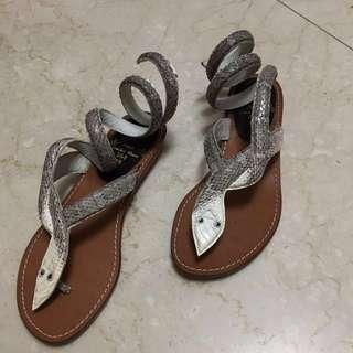墨西哥帶回的百步蛇時尚拖鞋