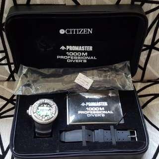 🚚 (正品)日本國CITIZEN深潛1000米鈦殼Promaster機械錶