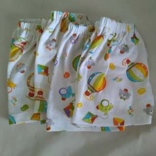 baby short pants 4 pcs (0-3 months)  Libby baby