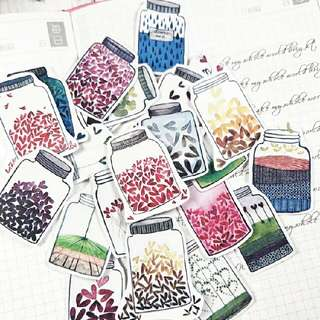 [BUY 3 FREE 1] jar of hearts tumblr craft stickers