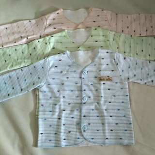 baby long sleeves 3 pcs (0-3 months) baby chio