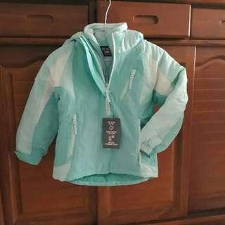 TCP 女童保暖防水三合一外套
