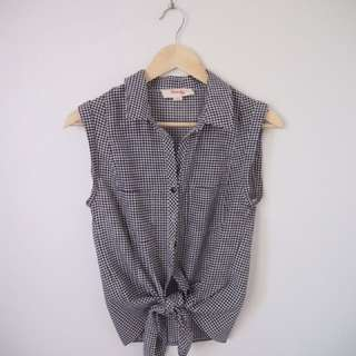 Kenji gingham sleeveless blouse
