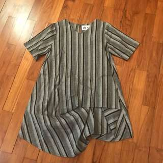 Slovv - grey striped top