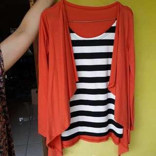 Orange semi cardigan