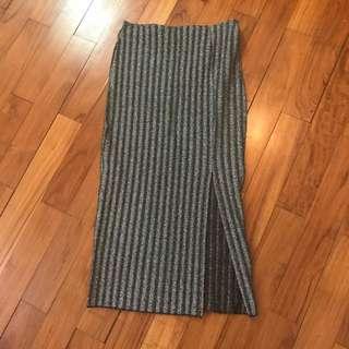 HnM - grey glitter skirt - s