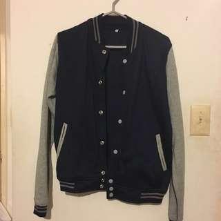 Blue-Grey Varsity Jacket