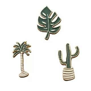 [BUY 3 FREE 1] Leaf tumblr palm enamel pin