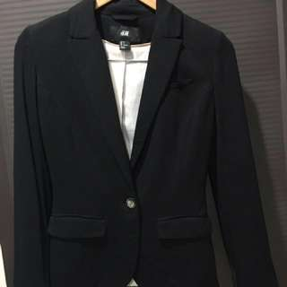 Preloved H&M black soft blazer