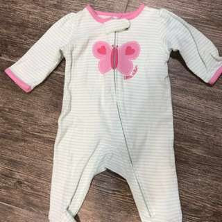Almost new Carter's sleepsuits