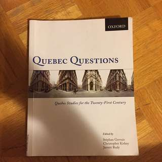 Quebec Questions: Quebec Studies for the twenty-first century