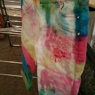 tie dyed kids shorts