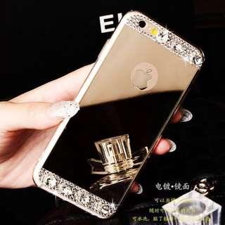 「全新現貨」奢華閃鑽iPhone6/6s 6plus潮牌鏡面蘋果手機殼 金色/銀色