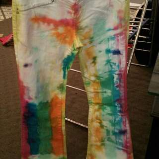 tie dyed kids teenager jeans