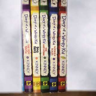 Five Diary Of A Whimpy Kid Series