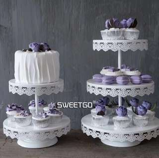 Cake stands for rent