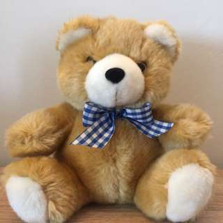 Bear With Red / Blue Ribbon