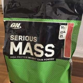 Pre-workout ON Serious Mass powder