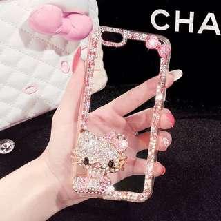 現貨iPhone6/6s通用 貓咪/3D HelloKitty閃鑽硅膠透明全保護手機殼 4.7寸蘋果