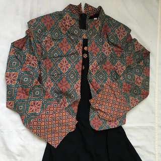 Batik Jubah Abaya Design 1
