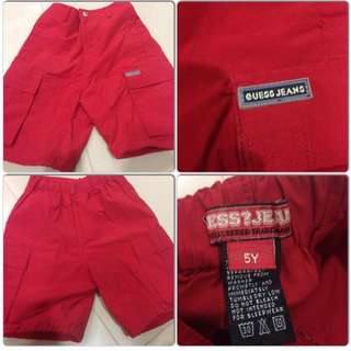 Guess red jeans pants boys girls size 5 y