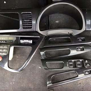 Toyota Wish PFL Carbon Fiber Panel Set