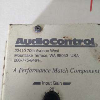 SELL/SWAP AudioControl U.S.A