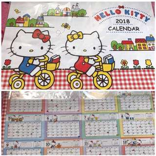 Hello Kitty, Little Twin Stars and My Melody 2018 Calendar