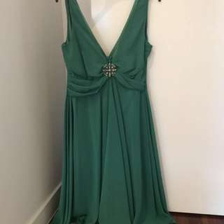 Formal Emerald Green Short Dress
