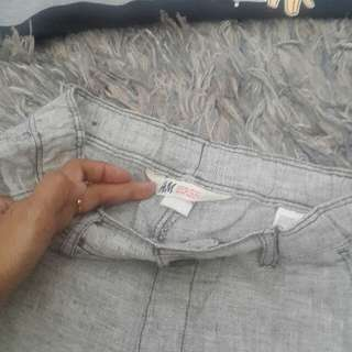 Grey soft material H&M pants size 9-10years old