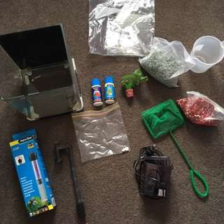 Betta fish tank kit with accessories