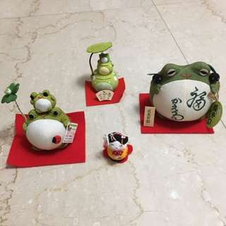 日本帶回來的福氣蛙 價錢不一而足