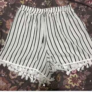 White Boho Shorts