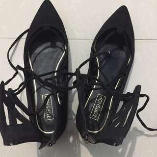 Topshop Black Flat Shoes
