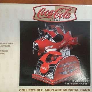 可口可樂絕版 音樂飛機錢罌