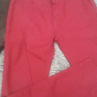 Seed red long pants size 9-10yrs