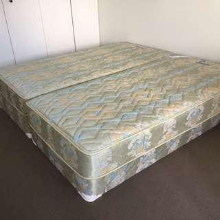 2x Free Bed base and mattress