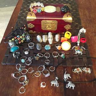 Bulk Lot Of Jewellery Including Box