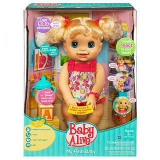 LOOKING FOR: ORIGINAL BABY ALIVE MY REAL BABY