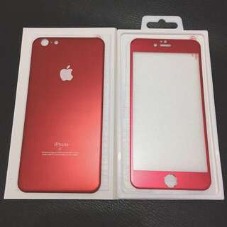 TEMPERED GLASS RED EDITION FULL COVER FOR IPHONE