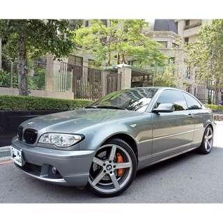 2004年 BMW 330CI (新車249萬 僅跑11萬 超少開 一年跑不到一萬) 6*SRS 天窗 原廠最大馬力可達231hp,與上一代美規M3的240hp相差無幾,另外車主在制動上也下了一番功夫 搭配義大利大廠BREMBO卡鉗及加大碟,動靜皆宜