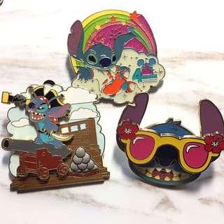 Disney 迪士尼 Pin Pins 襟章 徽章 Stitch 史迪仔
