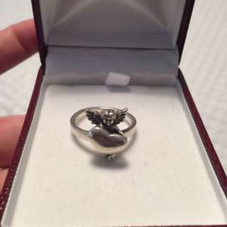 Cute Silver Angel Ring