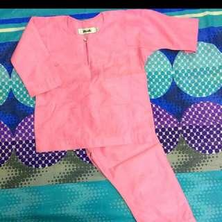 BAK TAILOR baju melayu pink
